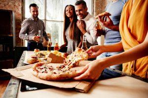 friends pizza party