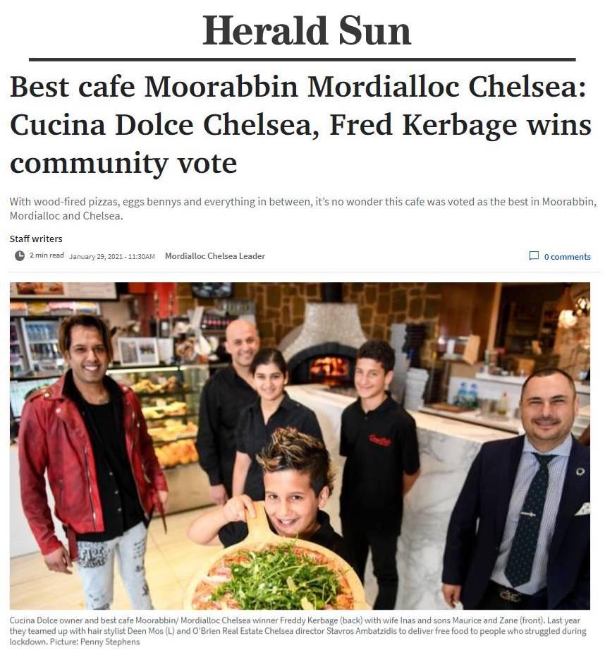herald sun award 2021